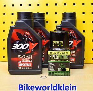 Yamaha XJ6 09-16 Todos CON Aceite + Carreras Filtro de Motul 300V Factoría Line