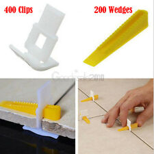600 Tile Leveling System 400 Clips + 200 Wedges Tile Leveler Spacers Lippage