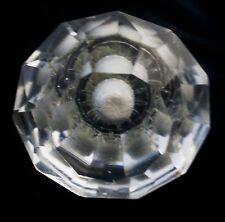 BRILLIANT CLASSICAL CUT CRYSTAL OLDER KNOBS FIRE POLISHED