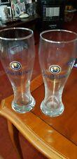 🇩🇪🍺 Benediktiner Weissbier - 2 x Half Pint Glasses 🍺🇩🇪 - NEW
