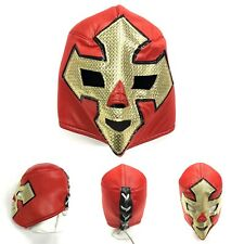 Mexican luchador Lucha Libre RARE Premium Adult Wrestling Mask Red & Gold