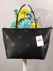 NWT KATE SPADE Haven Lane Hani Black Leather Glitter Dots Shoulder Bag #WKRU4119