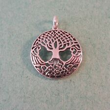 .925 Sterling Silver Detail CELTIC KNOT TREE of Life Charm/Pendant NEW 925 CC16
