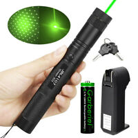 Tactica 532nm 303 Green Laser Pointer Lazer Pen Visible Beam Light+18650+Charger