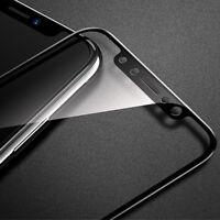 2x 3D Panzer Glasfolie für iPhone XS iPhone X Displayschutz Panzerfolie SCHWARZ