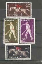 1960 EDIFIL 1316/19* NUEVOS CON CHARNELA. DEPORTES. CORREO AEREO