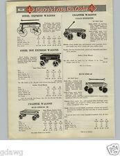 1925 PAPER AD Galco Speedster Blue Streak Express Coaster Wagon Steel