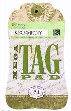 K&Company Mega Tag Pad Lifes Journey 24 DIY Craft Scrapbooking Journal Tags RARE