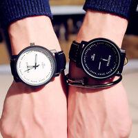 Herren  Kunstleder Quarz Analog Wasserdicht vintage Armbanduhr PAL