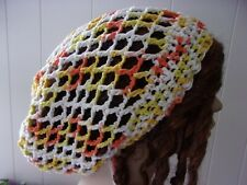 WOMENS 100% COTTON SLOUCH HAT DREADLOCK HAT SLOUCHY TAM  W/ DRAWSTRING