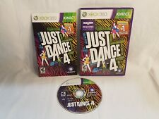 Microsoft Xbox 360 Just Dance 4 Game Complete CIB w/Box,Manual Kinect Required