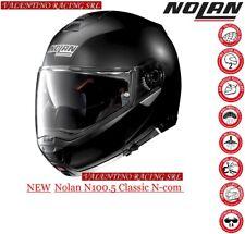 CASCO NOLAN N 100 5 NEW MODULARE CLASSIC N-COM FLAT BLACK Nero Opaco 10 MIS. XXL