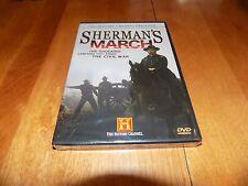 SHERMAN'S MARCH CIVIL WAR Atlanta Georgia Savannah CSA History Channel DVD NEW
