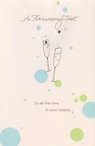 American Greetings Anniversary Card-To All the Love In Your Hearts & Joy In Life