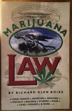 Marijuana Law book Boire legal rights weed pot 1996 Second edition new