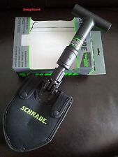Schrade SCHSH1 Telescoping Shovel 1055 Carbon Steel,Military,Survival,Tac Shovel