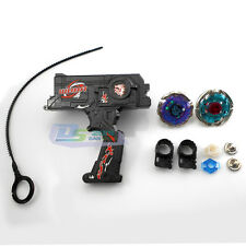 4D Metal Master Fusion Top Rapidity Fight Rare Double Launcher +2 Beyblade Set