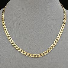 224/20 - Men's Necklace 14K Gold Plated 6 mm Cuban Link Chain / Chapa de Oro
