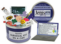 BIRTHDAY Survival Kit In A Can. Fun Gift For Him/Her/Men/Women/Friend With Card