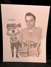 Jean Beliveau, Montreal Canadiens, Sports Portrait Lithograph