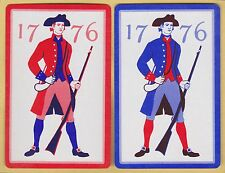 2 Single VINTAGE Swap/Playing Cards ARMY MEN & POWDER MUSKETS ID '1776-MN-6-1'
