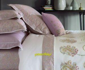 New Yves Delorme Rangoon 2 King Shams Light Purple Multi Floral  Cotton Percale