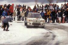 Timo Salonen Peugeot 205 Turbo 16 Monte Carlo Rally 1985 Photograph 1