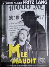 M - FRITZ LANG / LORRE / SERIAL KILLER - REISSUE LARGE FRENCH MOVIE POSTER