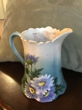 BEAUTIFUL ANTIGUE K & G LUNEVILLE WATER PITCHER Made In France