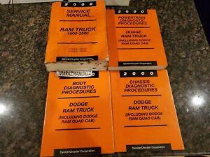 2000 Dodge Ram Truck 1500-3500 + Quad Cab  Service Manuals Manual OEM
