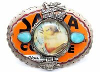 "BIG & HEAVY Modernist SWEET BIRD ""Littlest Birds"" Sterling Silver Belt Buckle"
