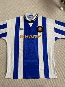 Manchester United 1994-96 Third shirt Football Rare Vintage *McClair* #9