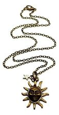 Sun and Star Pendant Bronzed Boho Chain Necklace Jewellery