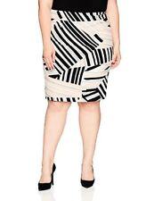 Nine West Women's Plus Sz Multi Stripe Skirt - Choose Sz/color Shell Multi 14w