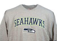 Seattle Seahawks NFL Majestic Team Logo Long Sleeve Tee, Grey Men's Big and Tall