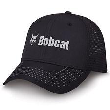BOBCAT Equipment *BLACK TWILL w/PERFORATED* TRADEMARK LOGO HAT CAP * NEW* BC30