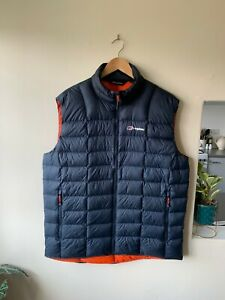 Berghaus Hydrodown 600 Navy Bodywarmer Jacket Size XL | Coat Gilet Down Vest Men