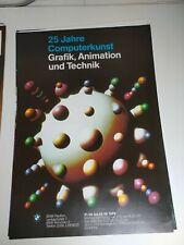 Plakat 25 Jahre Computerkunst BMW Pavillon 1989 München A1 Original TOP!