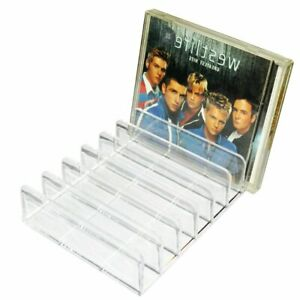 Acrylic Clear Crystal Sense CD / DVD Holder for Countertop Mobile Storage Box