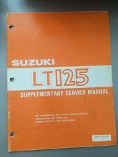 1984 Suzuki LT125 Supplementary Service Manual 99501-41040-01E