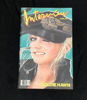 Andy Warhol's Interview Magazine April 1983 Goldie Hawn Bruce Weber Vintage