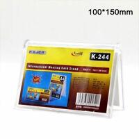 Fach Visitenkartenständer aus Acrylglas Visitenkarten Visitenkartenhalter Neu