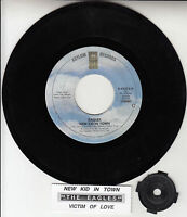 """THE EAGLES  New Kid In Town 7"""" 45 rpm vinyl record + juke box title strip"""