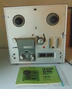 Vintage AKAI 1710W Reel To Reel Tape Player WORKS! Instructions