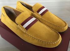 550$ Bally Pearce Mustard Suede Driver Size US 13 Made in Italy