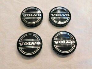 4 OEM Volvo Black Center Caps for S60 V70/XC70 S80 XC90 C70 S40 V50 C30 30666913