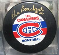 Pierre Bouchard Autograph Signed Montreal Canadiens Puck  *