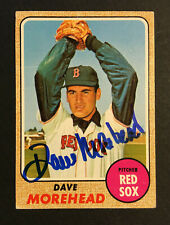 Dave Morehead Red Sox signed 1968 Topps baseball card #212 Auto Autograph 2