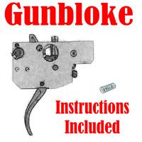 Tikka T1x Rimfire Rifle Trigger Spring upgrade kit - .8lb-2lb Made by GUNBLOKE