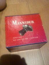 Maxwider SUPER WIDE 52 mm lente VINTAGE